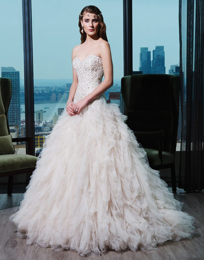 luxurious wedding gown by Justin Alexander. Tampa bridal shop, Pea to Tree Events