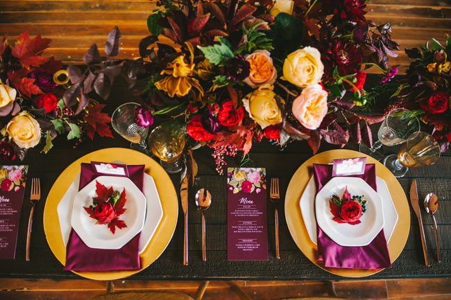 Autumn Place Setting, Wedding Fall Inspiration