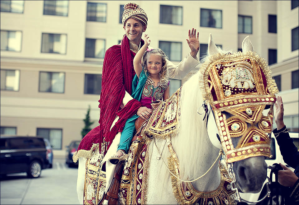 Baraat parade on horse