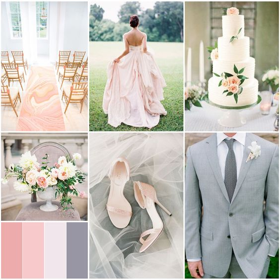 Winter wedding color palette pea to tree events tampa for Winter wedding color palettes