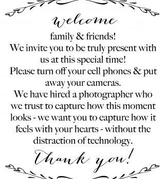 Respecting Clients Privacy (Tampa, Wedding Planner)