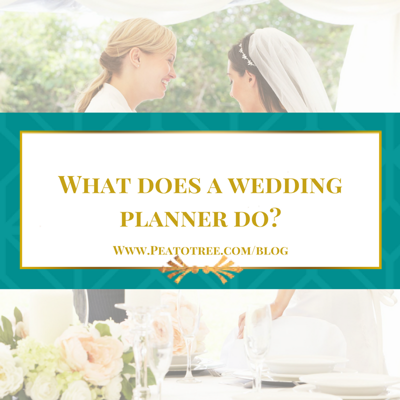 What does a wedding planner do?
