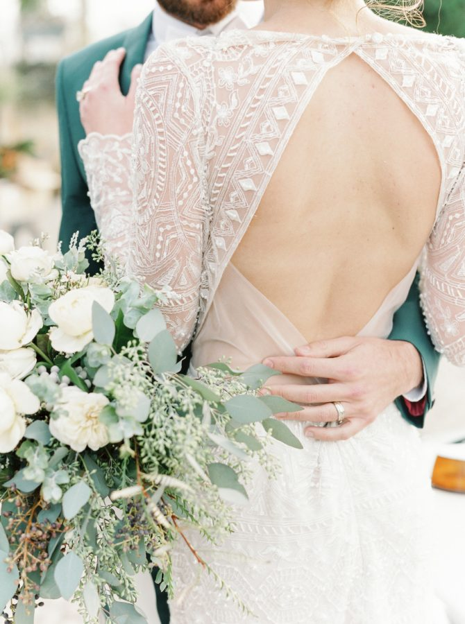 Olive & Black: A Naturally Classic Wedding Look